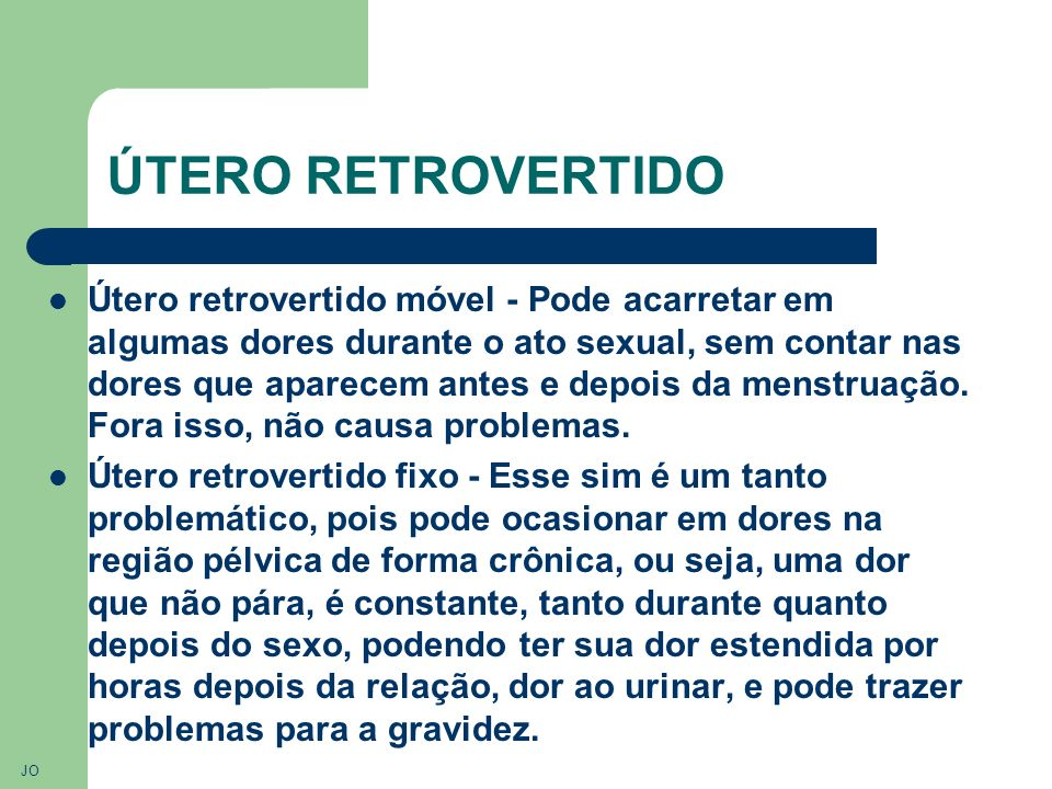 ÚTERO RETROVERTIDO