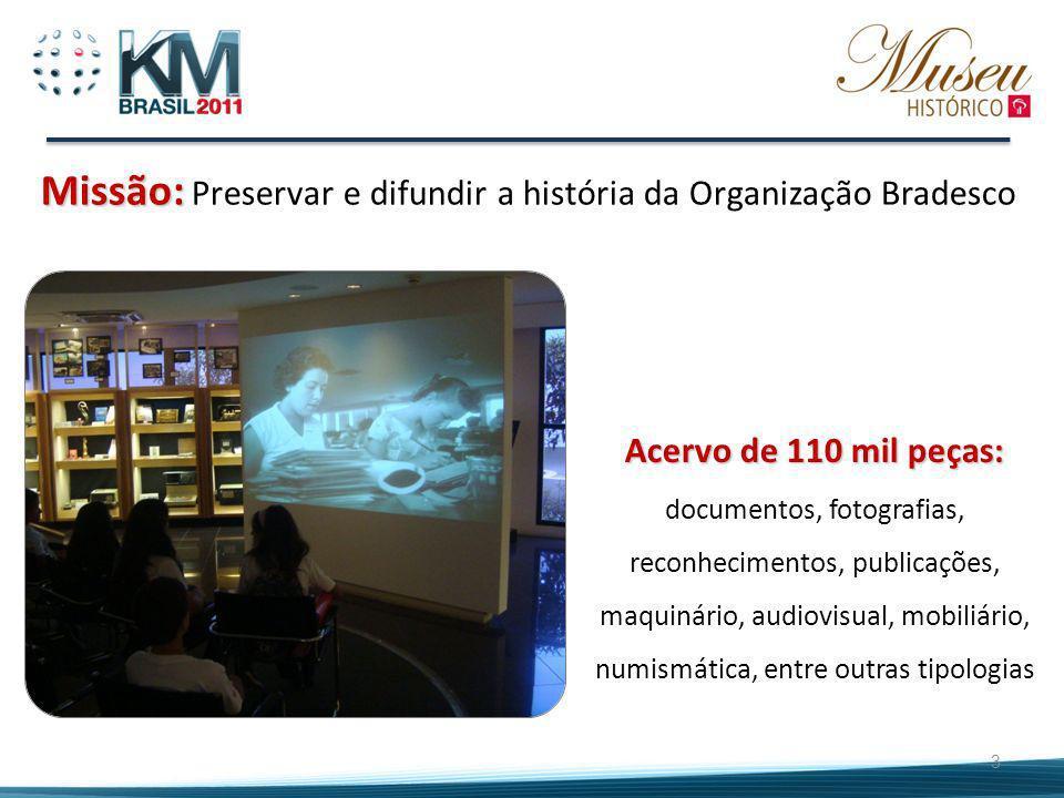 Missão: Preservar e difundir a história da Organização Bradesco