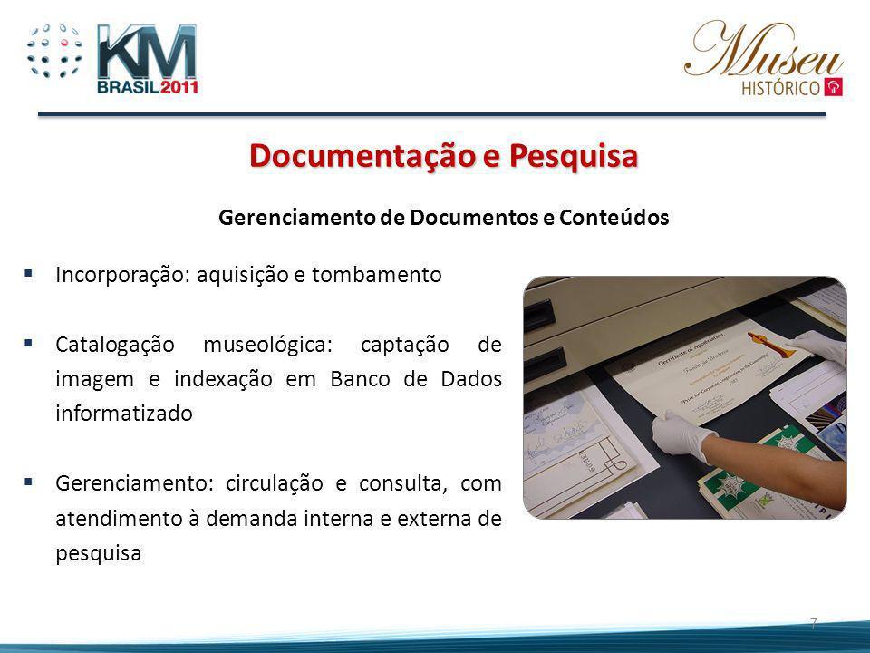 Documentação e Pesquisa Gerenciamento de Documentos e Conteúdos