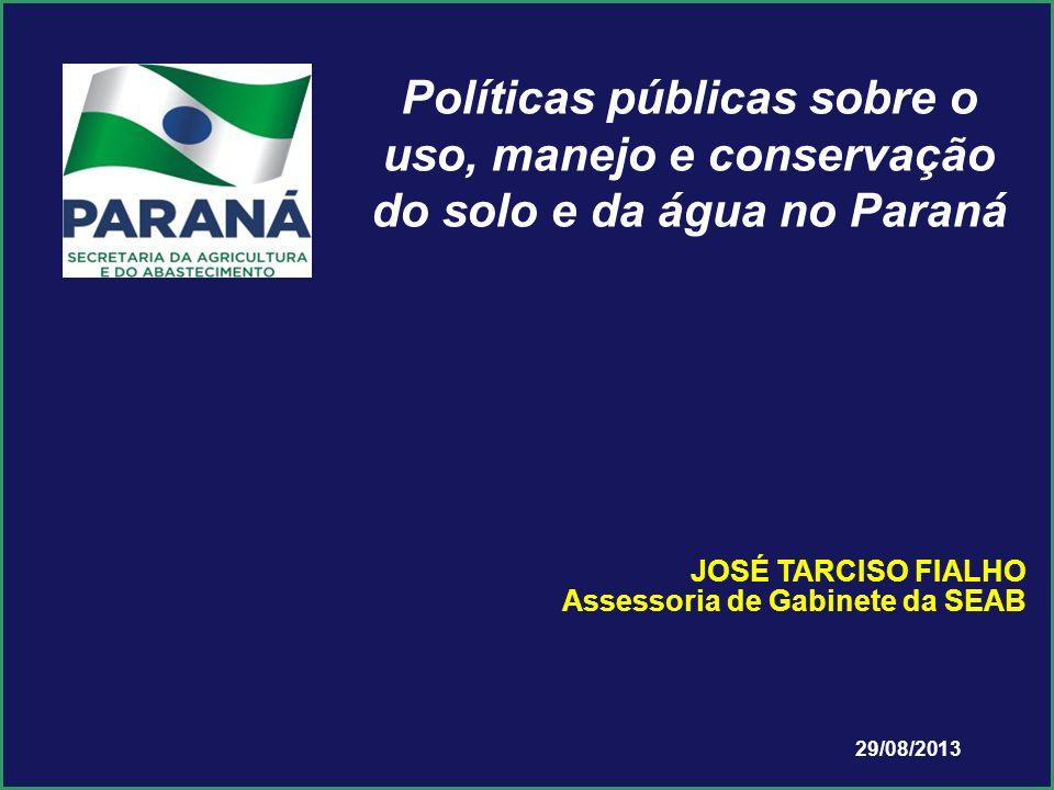 Políticas públicas sobre o uso, manejo e conservação do solo e da água no Paraná