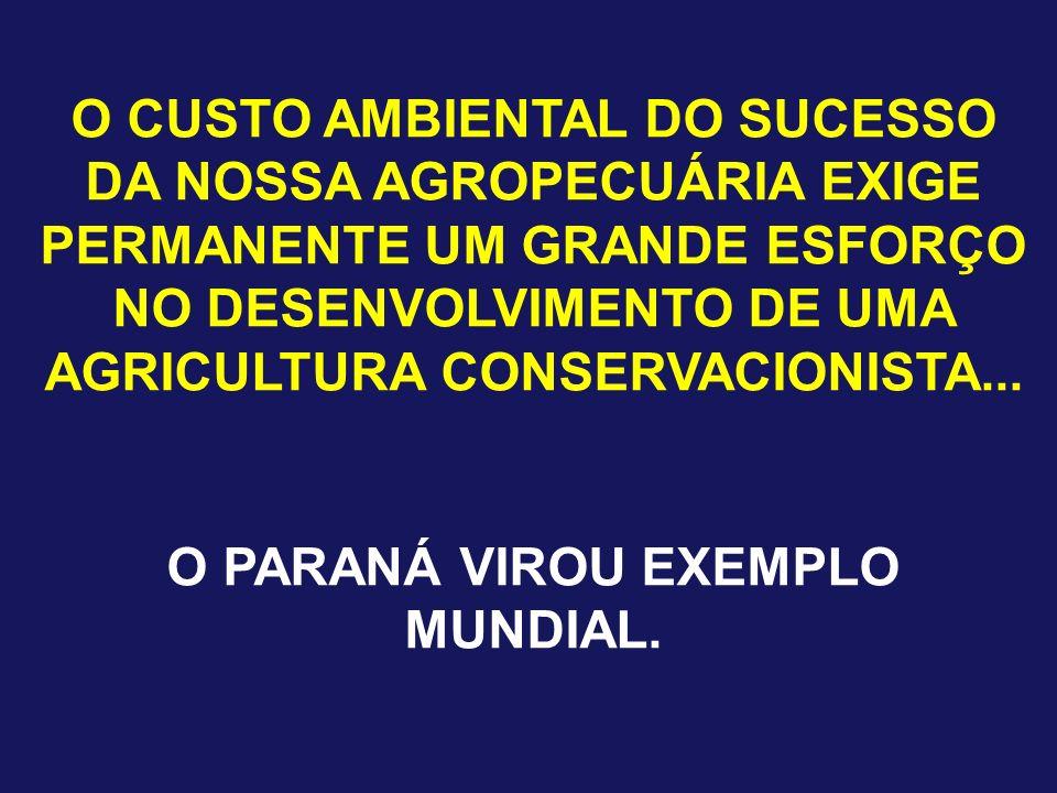 O PARANÁ VIROU EXEMPLO MUNDIAL.