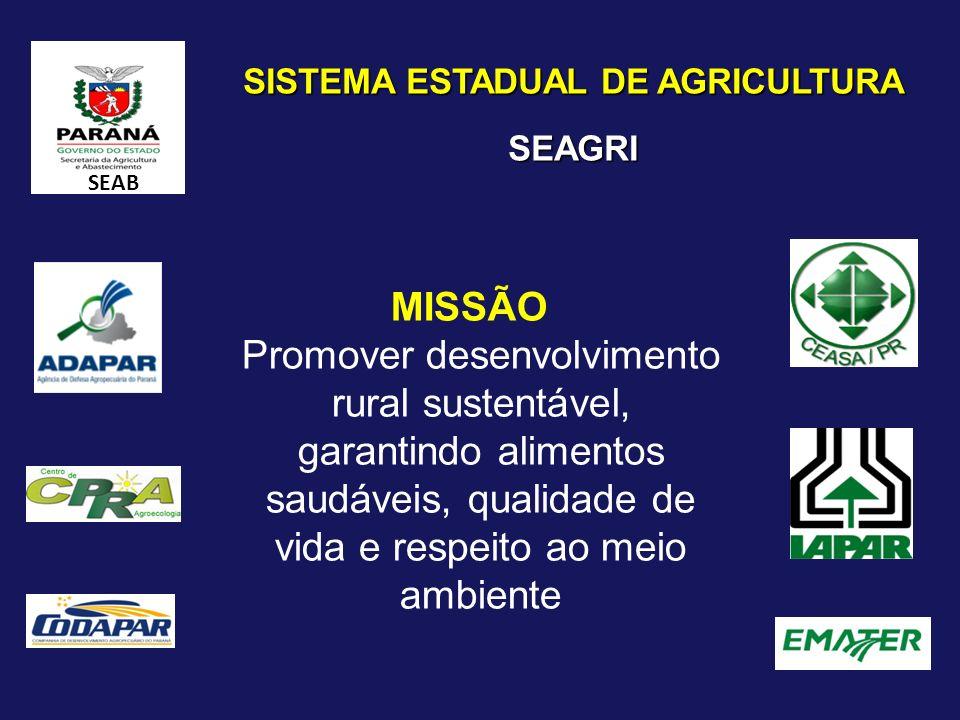 SISTEMA ESTADUAL DE AGRICULTURA