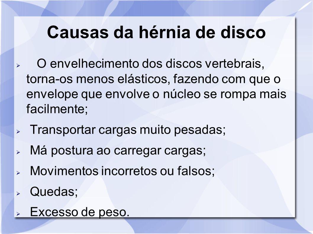 Causas da hérnia de disco