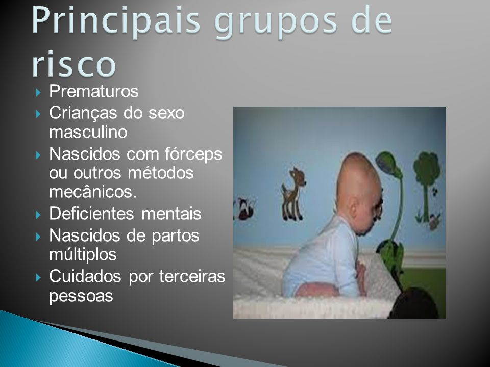 Principais grupos de risco