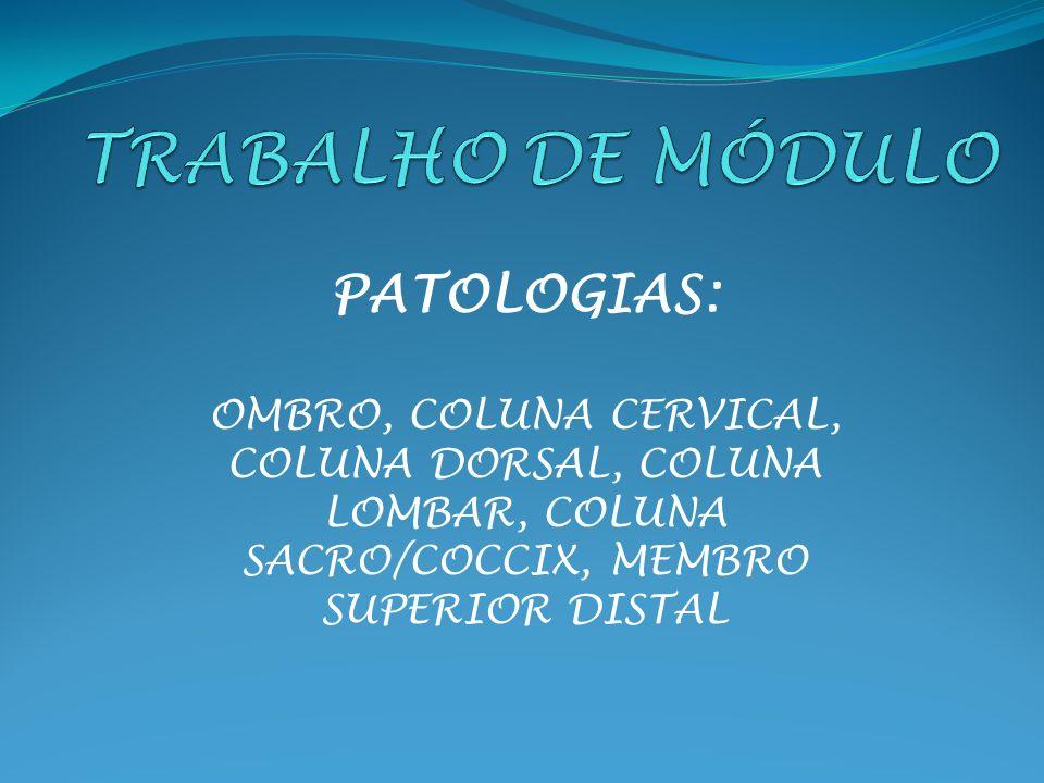 TRABALHO DE MÓDULO PATOLOGIAS: