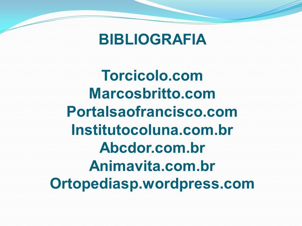 BIBLIOGRAFIA Torcicolo. com Marcosbritto. com Portalsaofrancisco