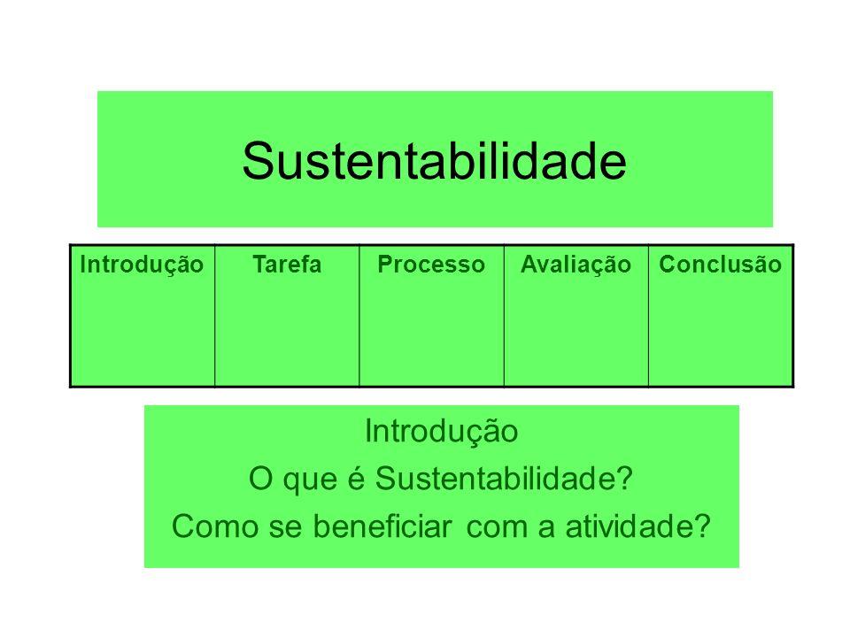 Sustentabilidade Introdução O que é Sustentabilidade