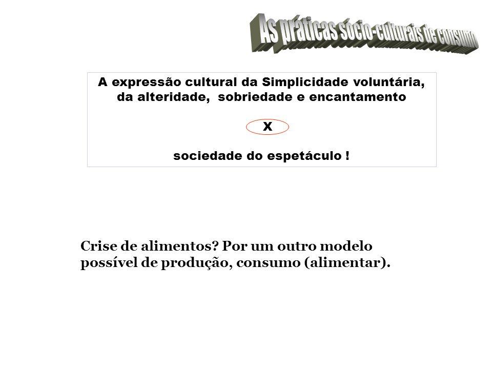 As práticas sócio-culturais de consumo