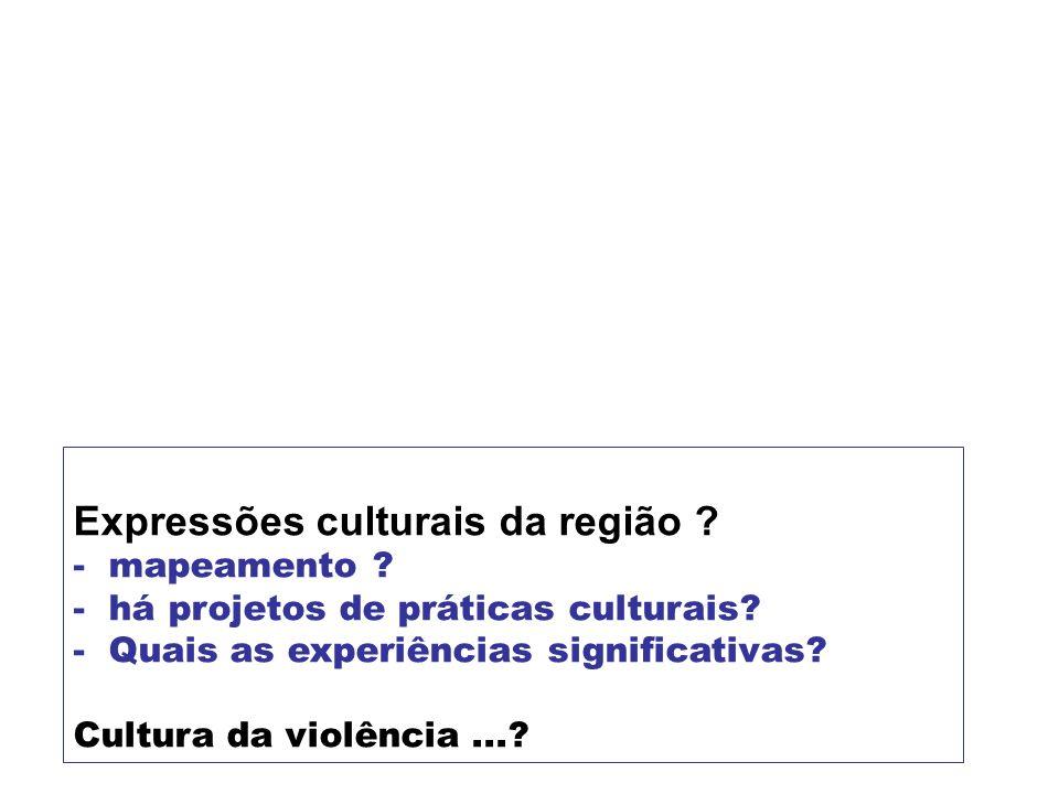 Expressões culturais da região