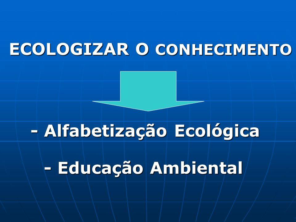 - Alfabetização Ecológica