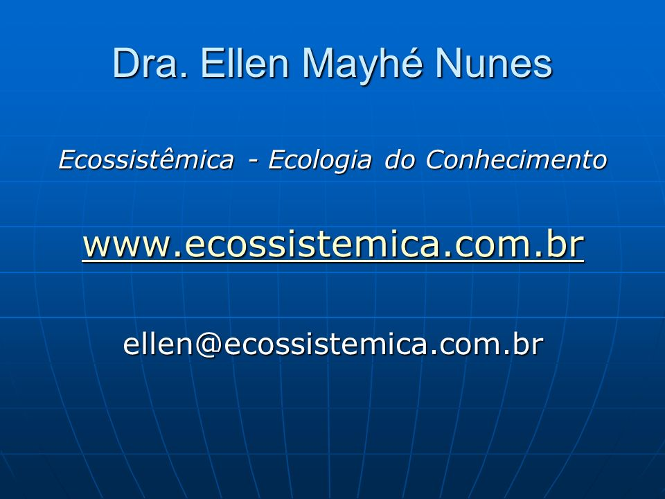 Ecossistêmica - Ecologia do Conhecimento