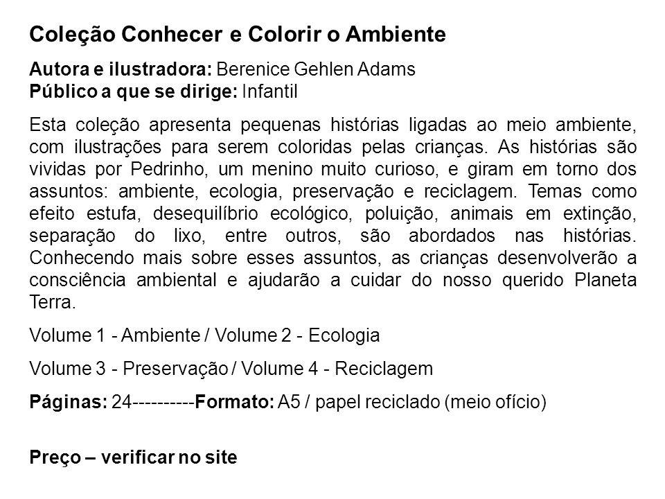 Coleção Conhecer e Colorir o Ambiente