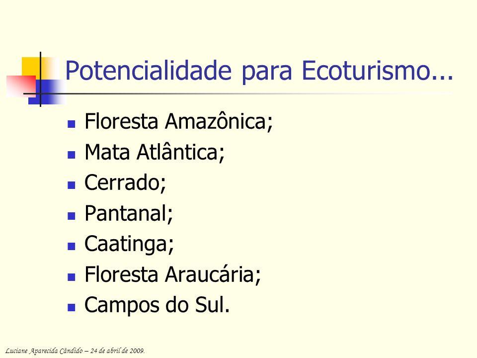 Potencialidade para Ecoturismo...
