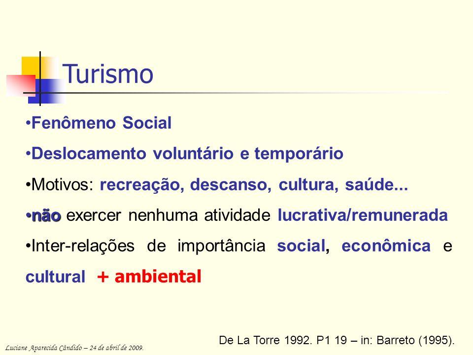 Turismo Fenômeno Social Deslocamento voluntário e temporário