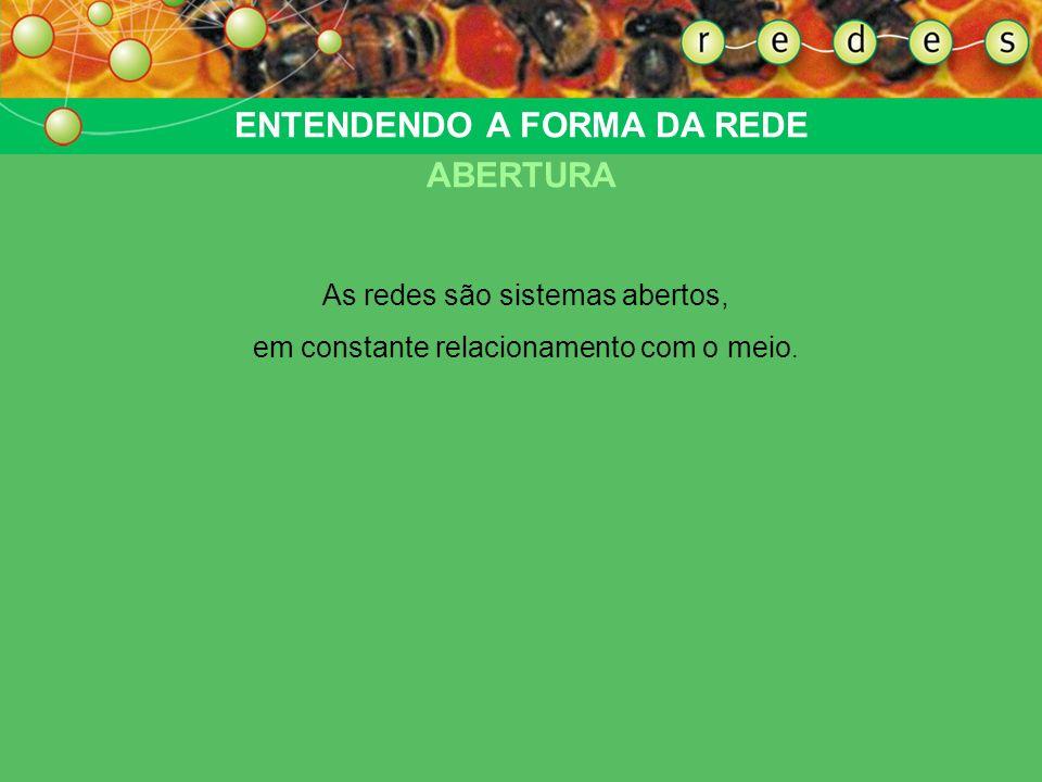 ENTENDENDO A FORMA DA REDE ABERTURA