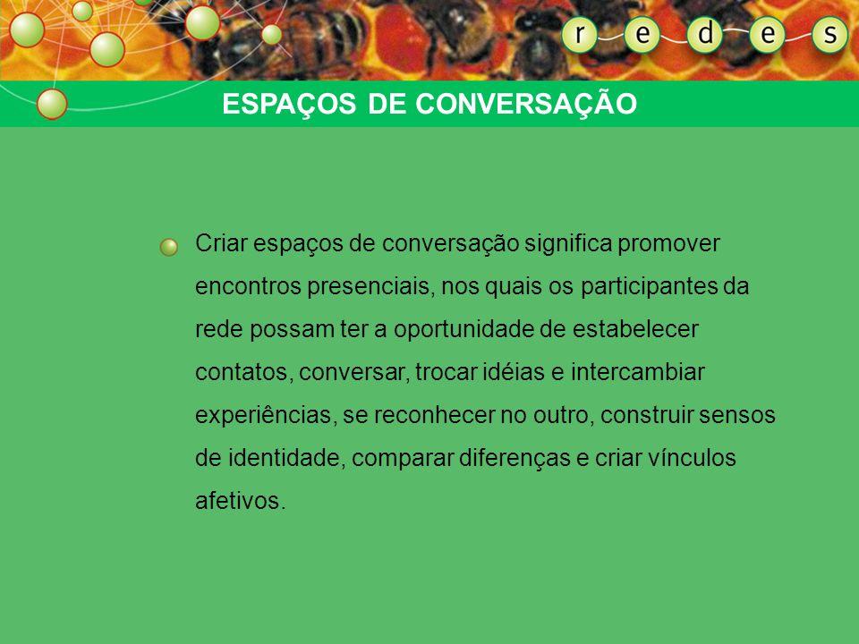 ESPAÇOS DE CONVERSAÇÃO