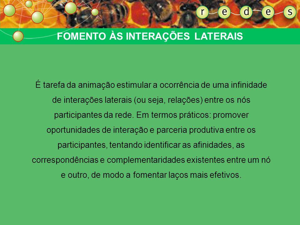 FOMENTO ÀS INTERAÇÕES LATERAIS