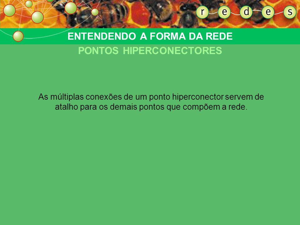 ENTENDENDO A FORMA DA REDE PONTOS HIPERCONECTORES