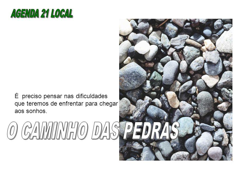 AGENDA 21 LOCAL O CAMINHO DAS PEDRAS