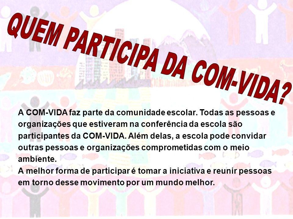 QUEM PARTICIPA DA COM-VIDA