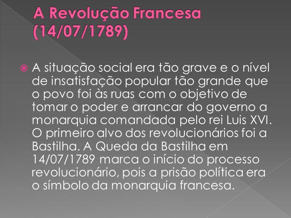A Revolução Francesa (14/07/1789)