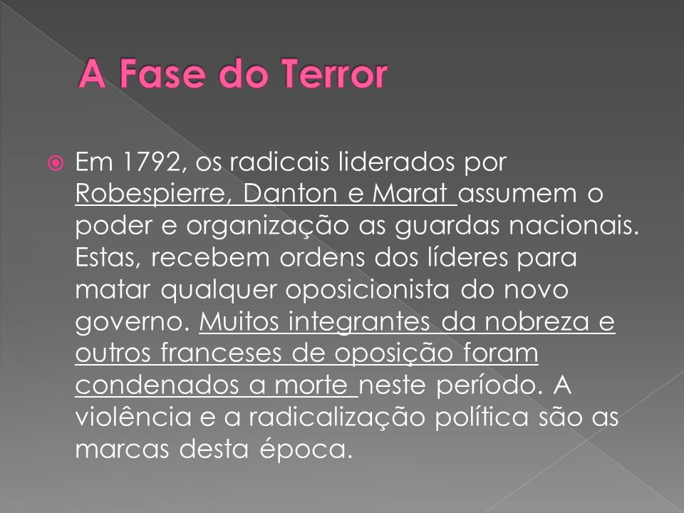 A Fase do Terror