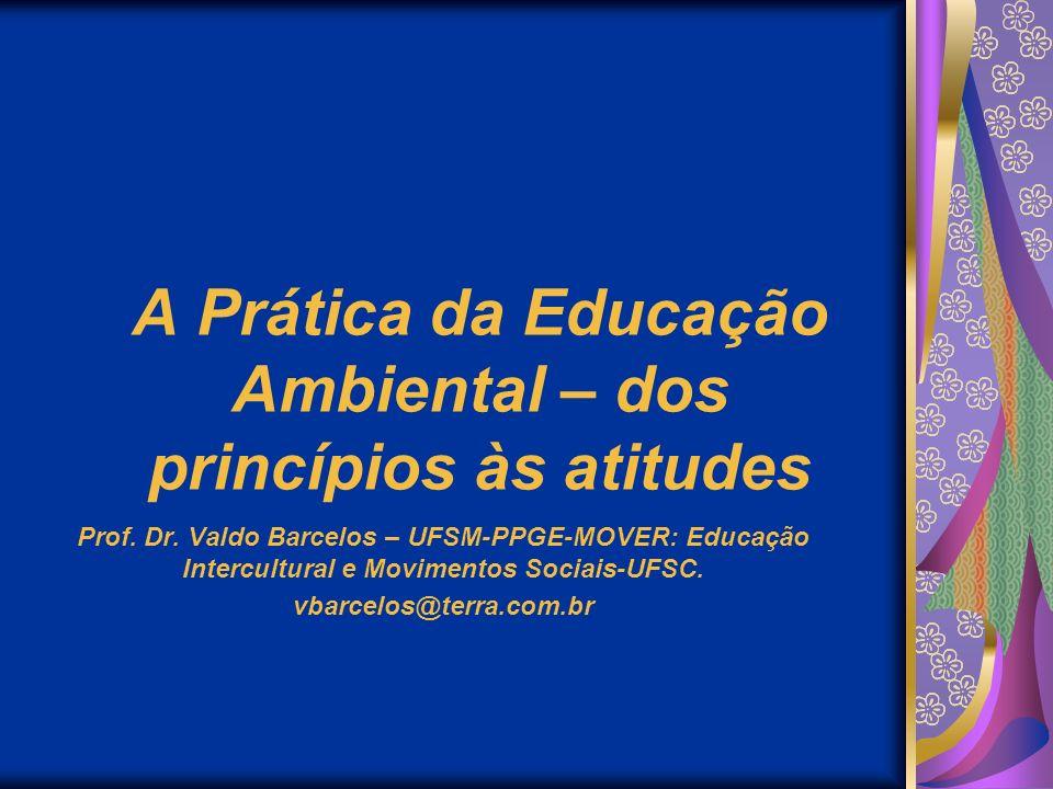 A Prática da Educação Ambiental – dos princípios às atitudes
