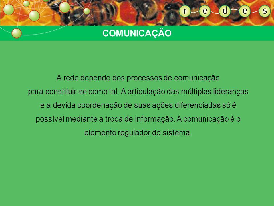 A rede depende dos processos de comunicação