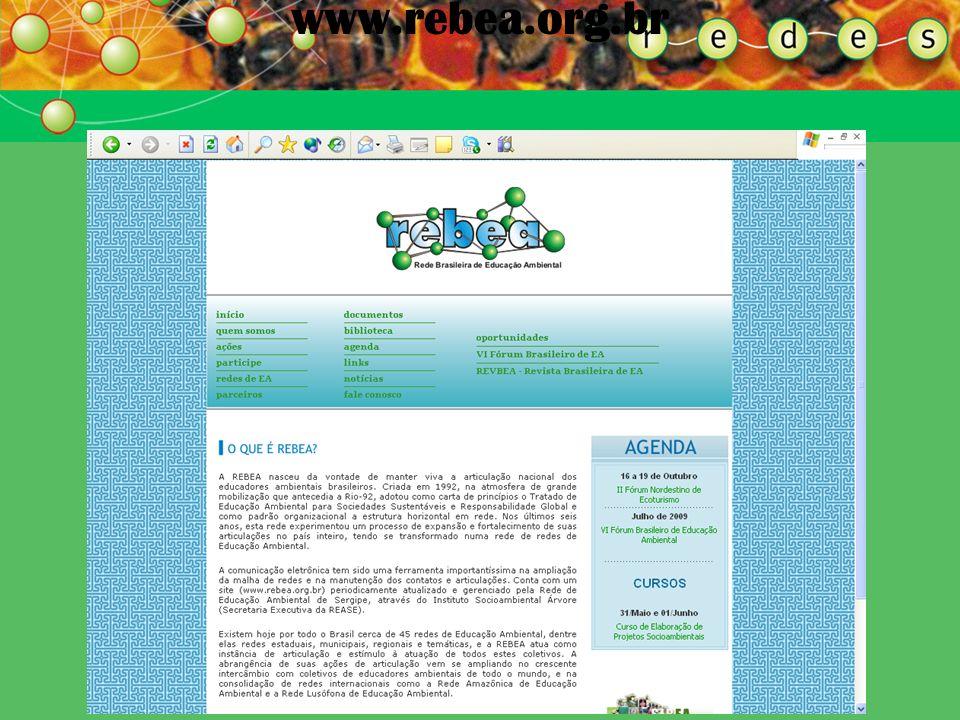 REDE BRASILEIRA DE EA REBEA www.rebea.org.br