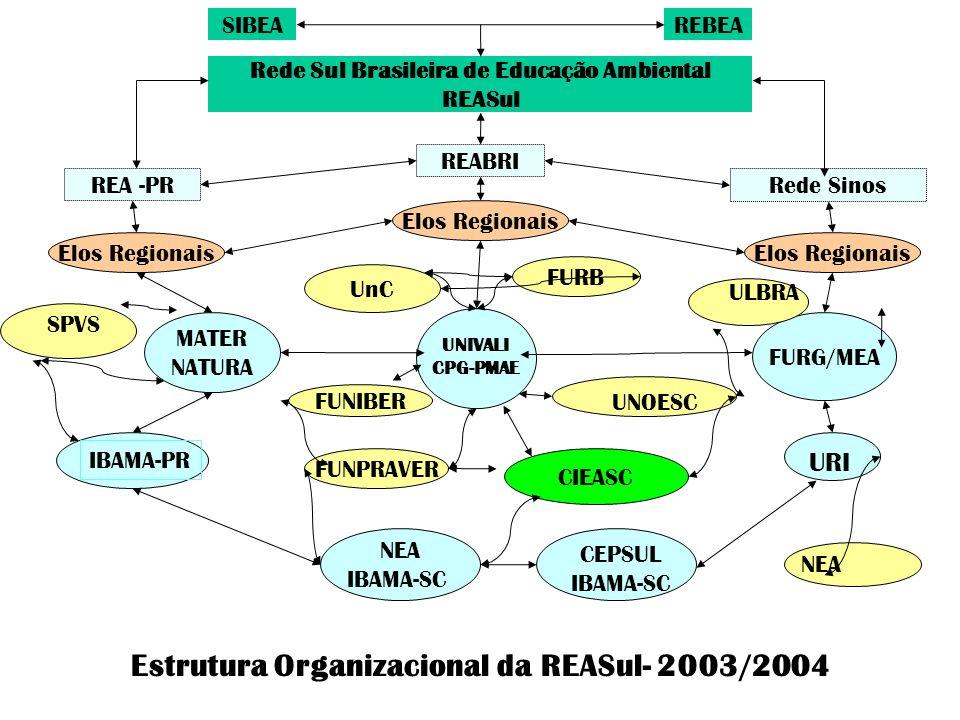 Estrutura Organizacional da REASul- 2003/2004