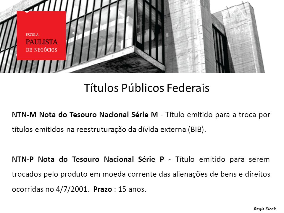 Títulos Públicos Federais