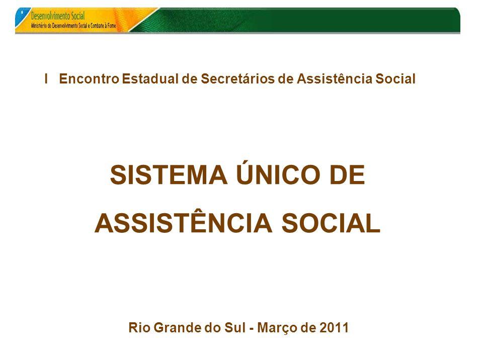 I Encontro Estadual de Secretários de Assistência Social