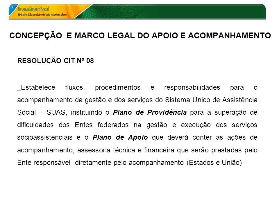 CONCEPÇÃO E MARCO LEGAL DO APOIO E ACOMPANHAMENTO