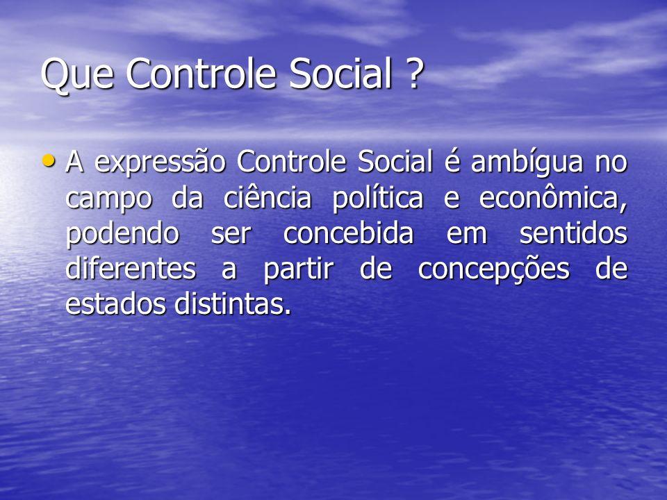 Que Controle Social