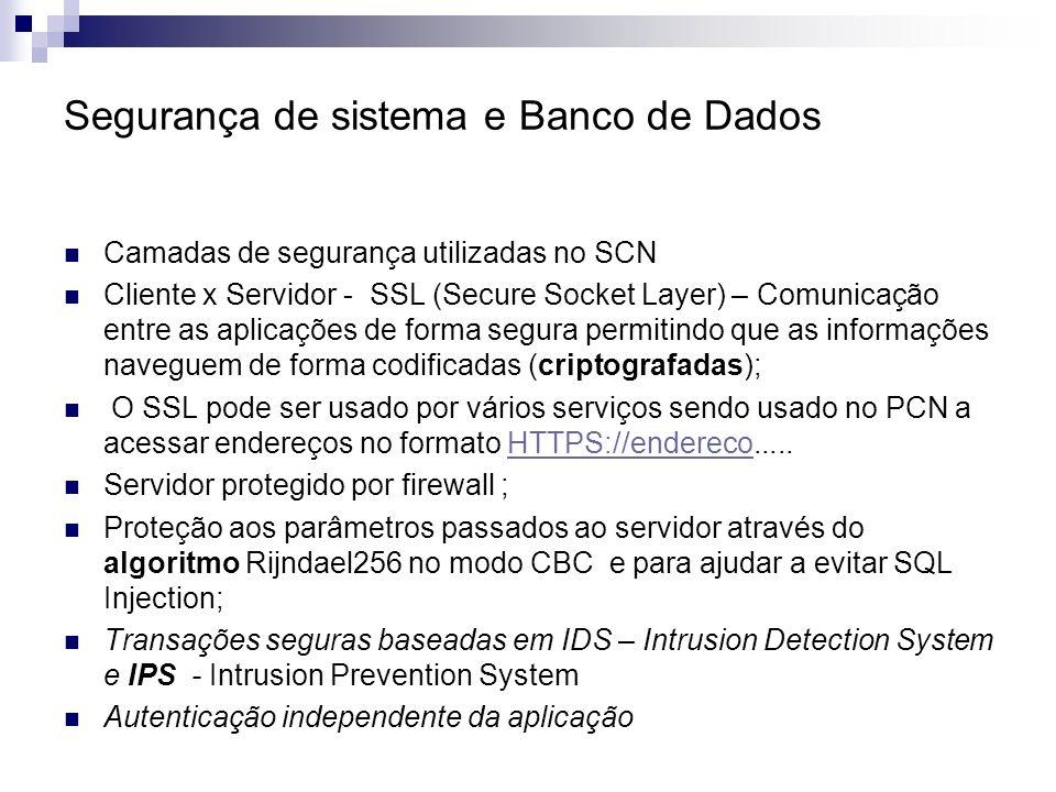 Segurança de sistema e Banco de Dados