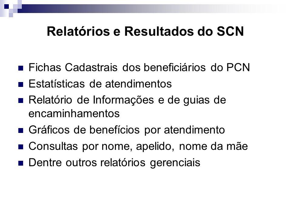 Relatórios e Resultados do SCN