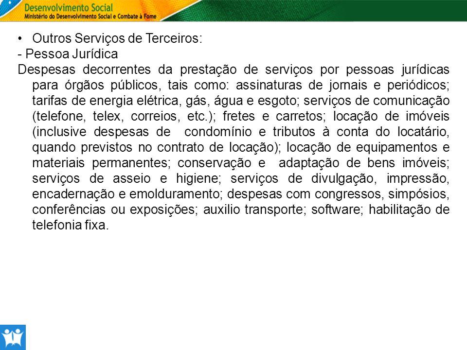 Outros Serviços de Terceiros: