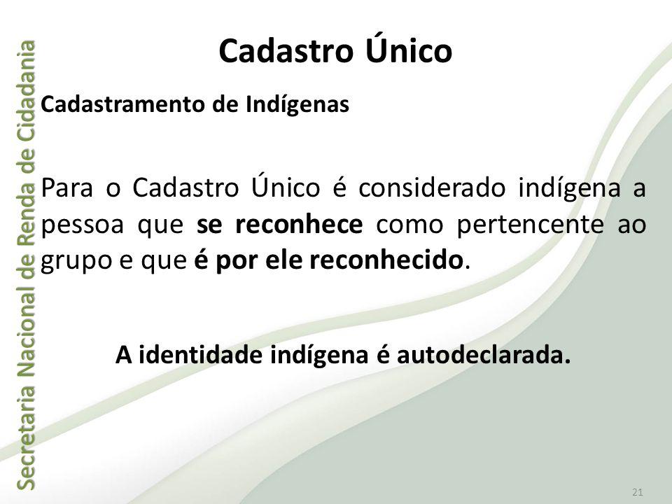 A identidade indígena é autodeclarada.