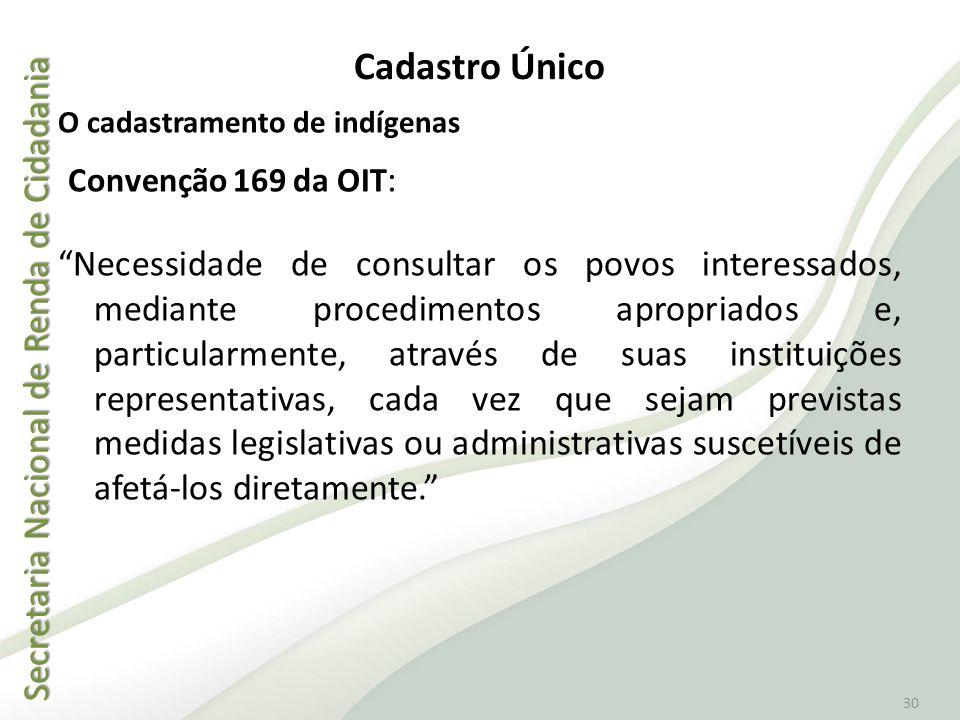 Convenção 169 da OIT: Cadastro Único