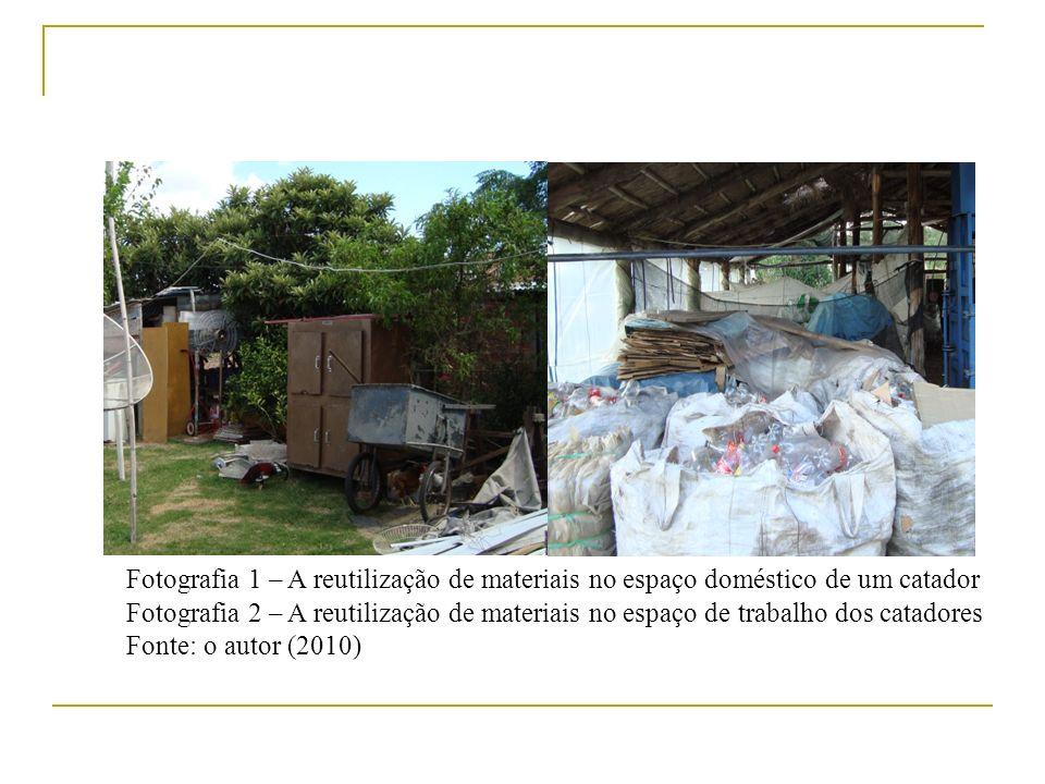 Fotografia 1 – A reutilização de materiais no espaço doméstico de um catador