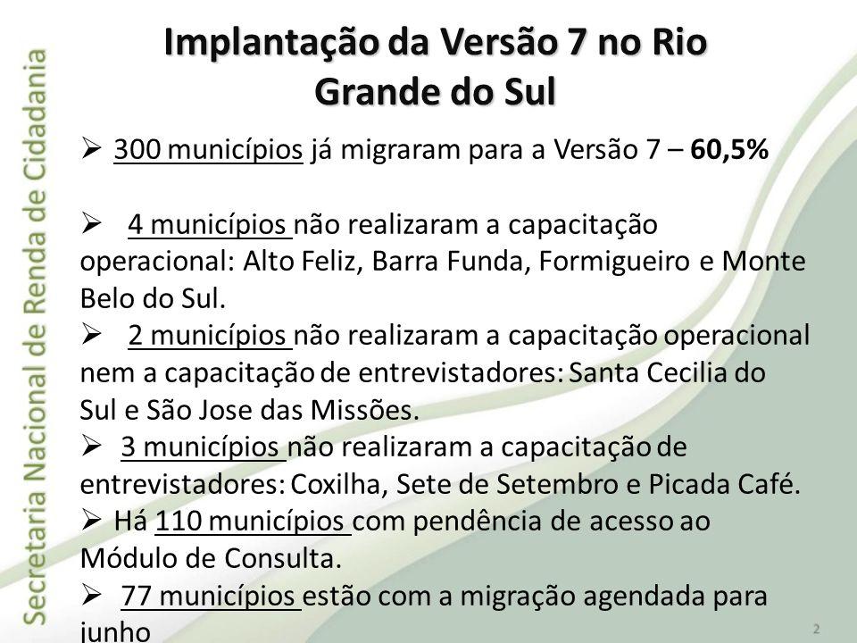Implantação da Versão 7 no Rio Grande do Sul