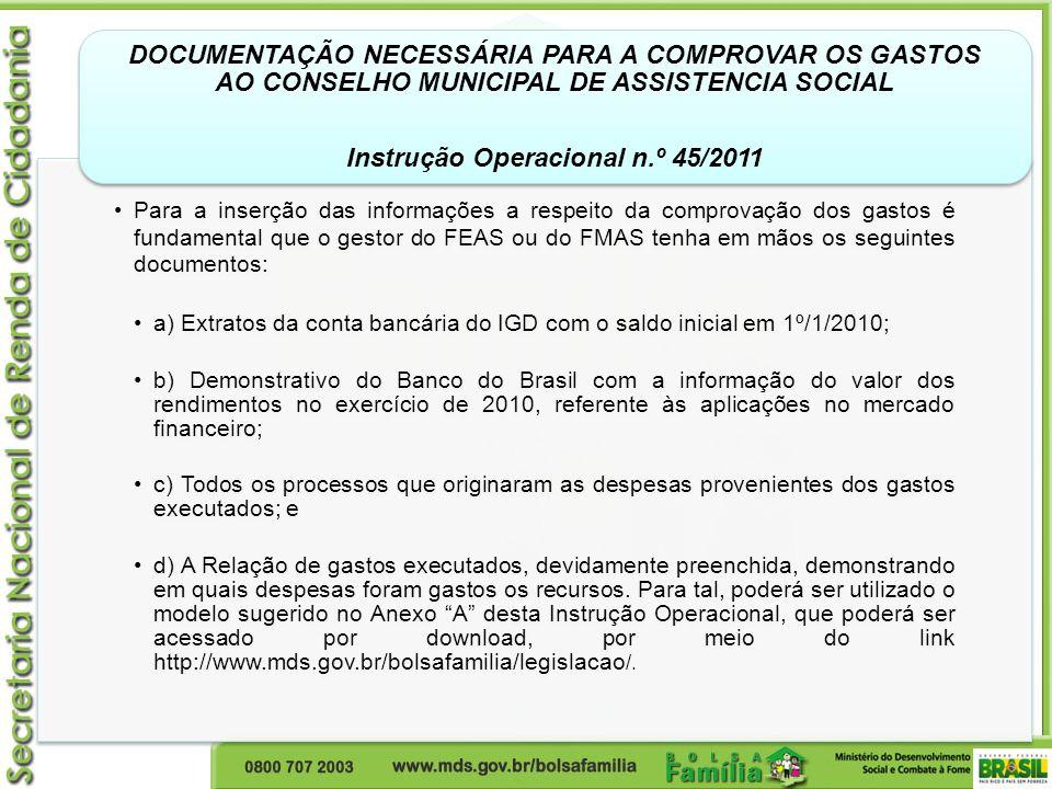 Instrução Operacional n.º 45/2011