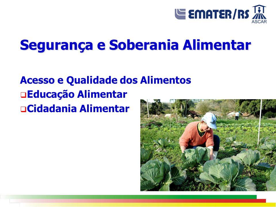 Segurança e Soberania Alimentar