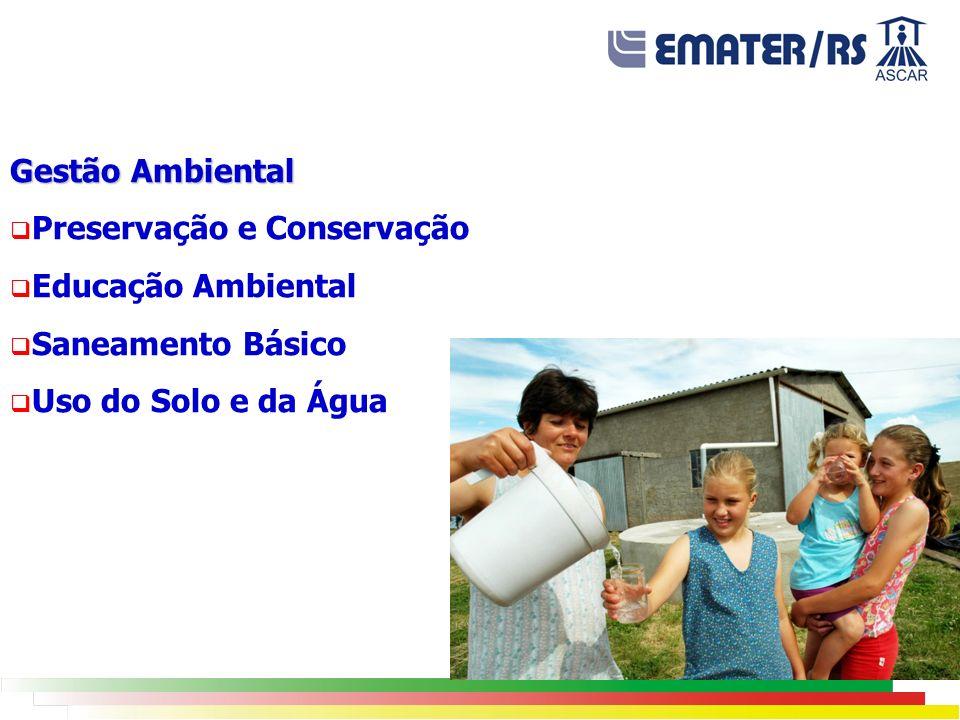 Gestão Ambiental Preservação e Conservação. Educação Ambiental.