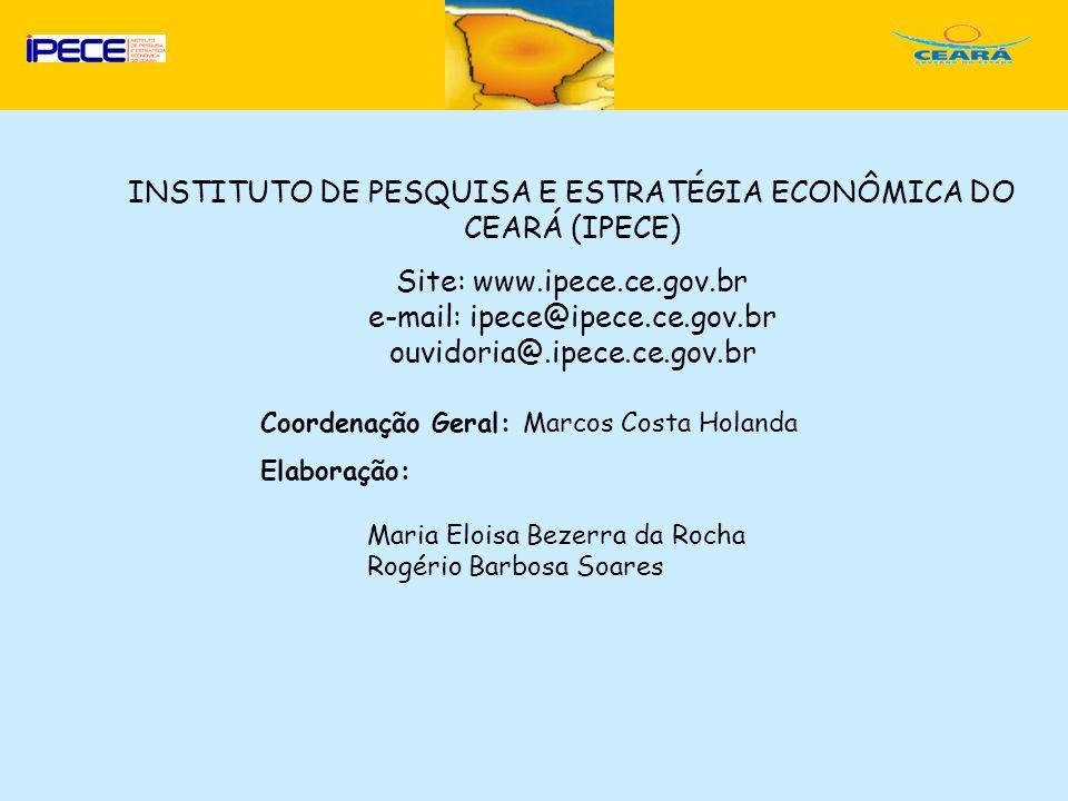 INSTITUTO DE PESQUISA E ESTRATÉGIA ECONÔMICA DO CEARÁ (IPECE)