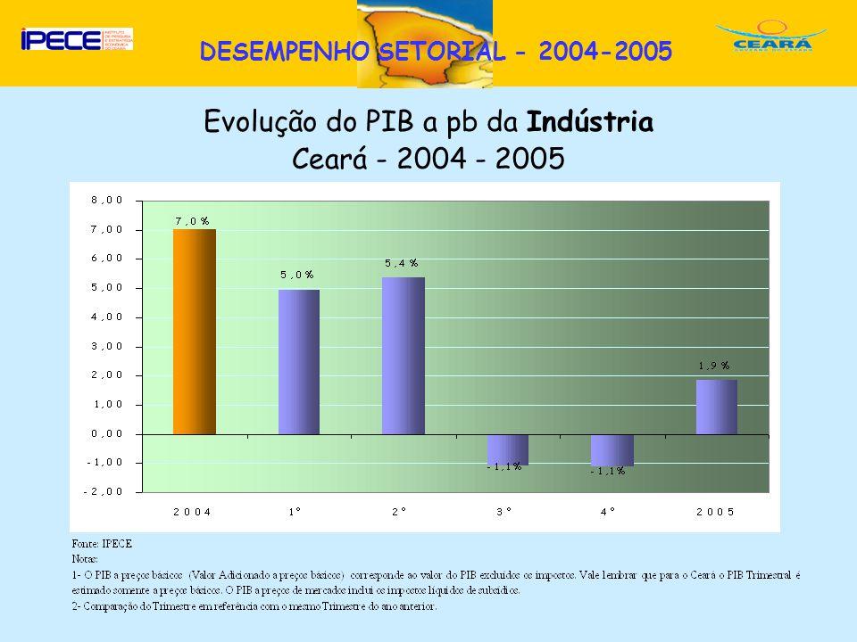 DESEMPENHO SETORIAL - 2004-2005