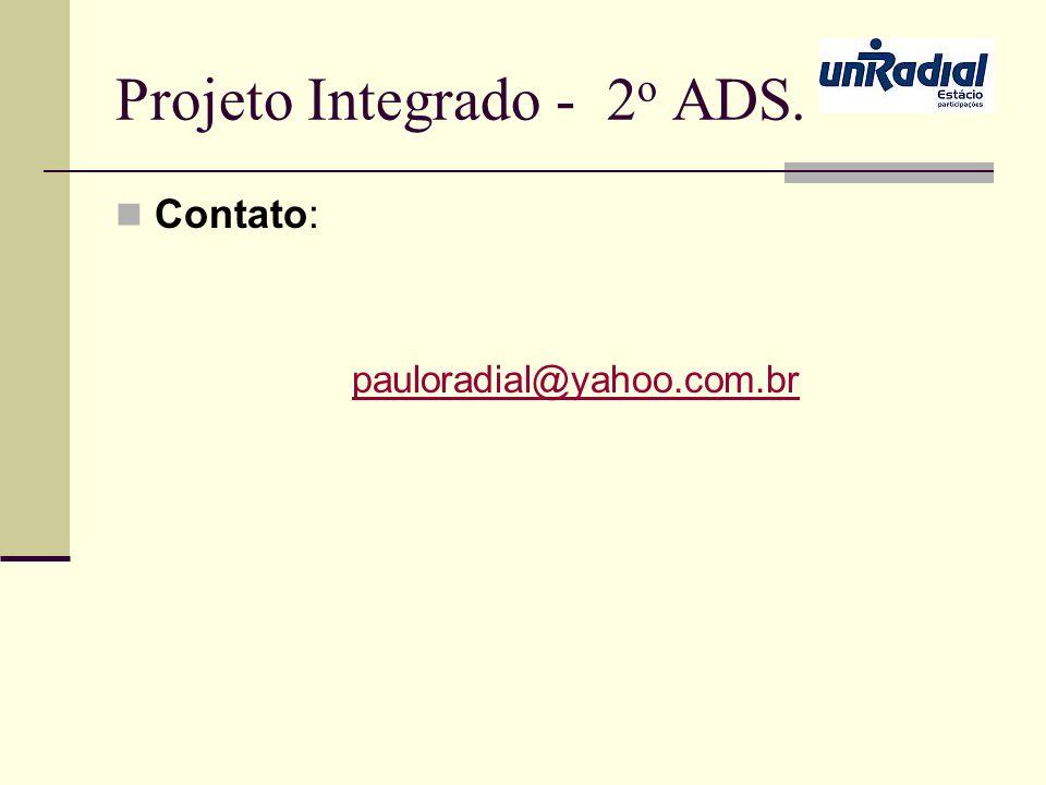 Projeto Integrado - 2o ADS.