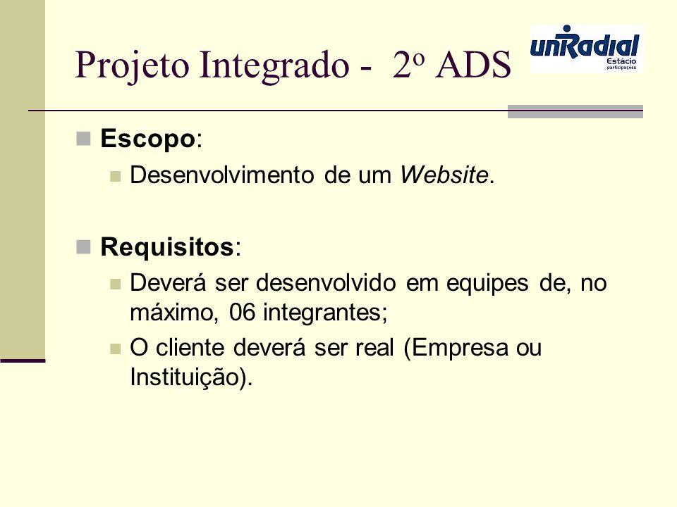Projeto Integrado - 2o ADS