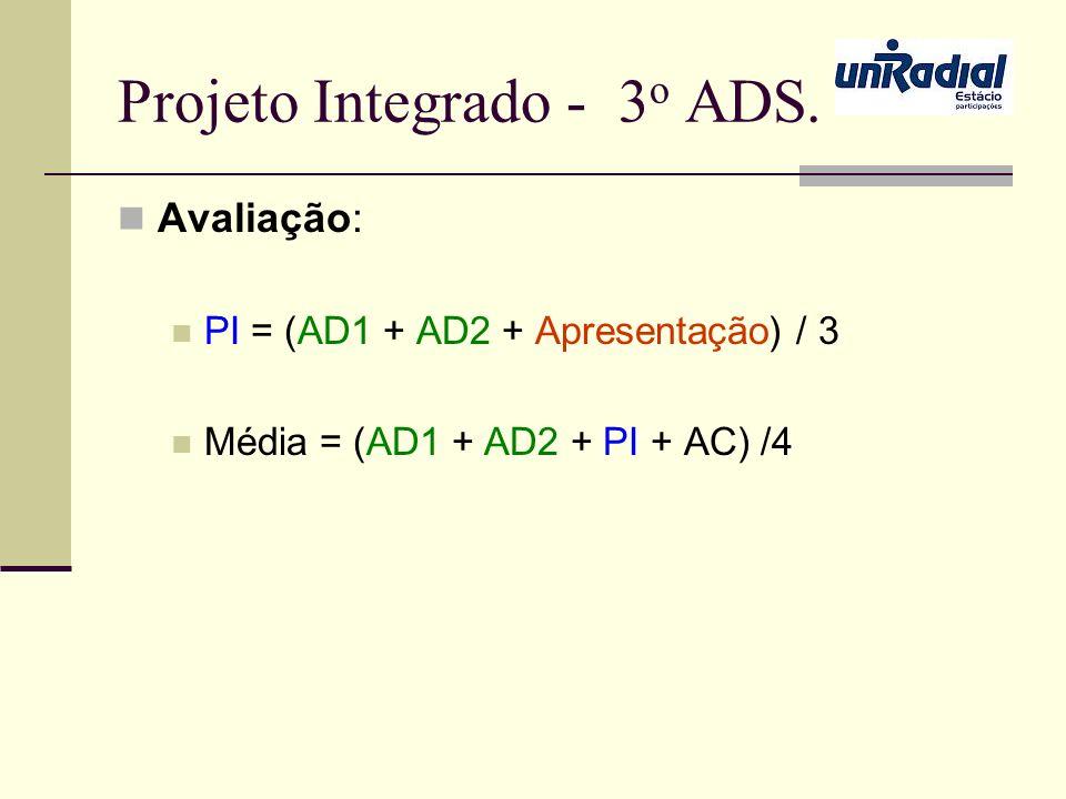 Projeto Integrado - 3o ADS.