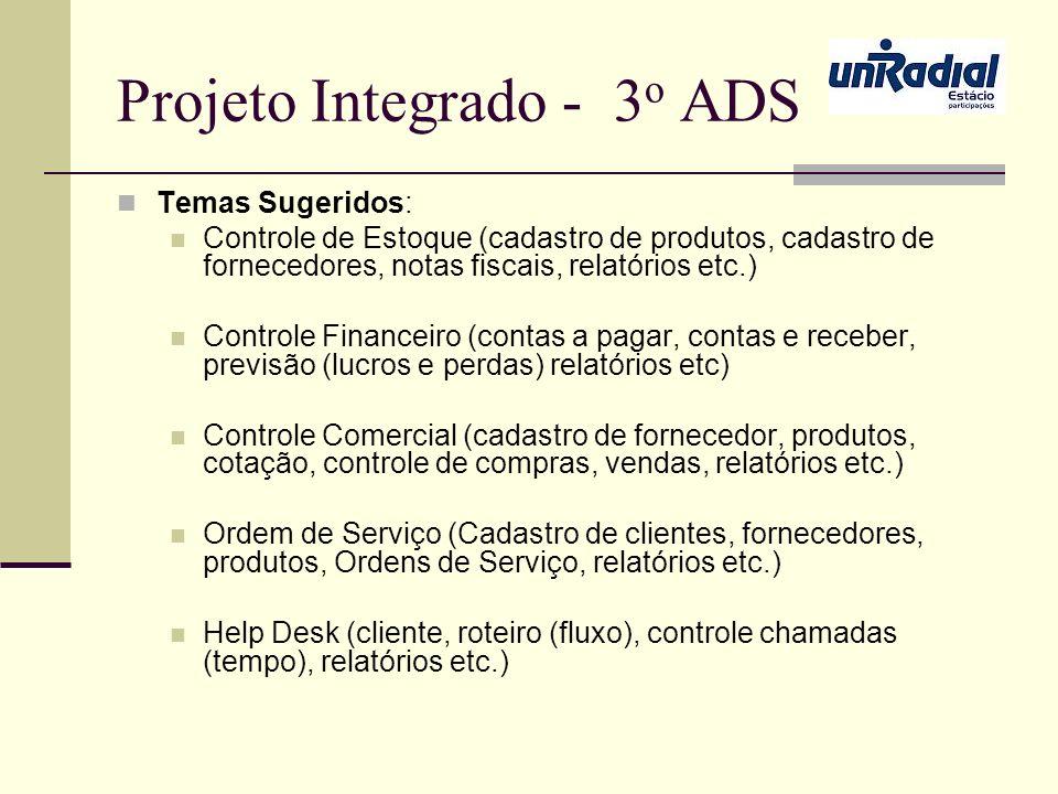 Projeto Integrado - 3o ADS